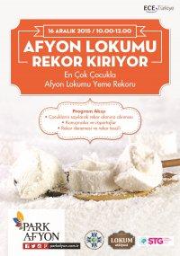 (Rekor:60) En Çok Çocukla Lokum Yeme Rekoru (Afyonkarahisar, 16 Aralık 2015)